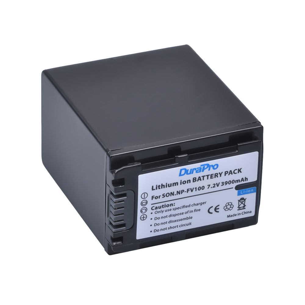 DuraPro 1pc NP-FV100 NP FV100 NP FV100 Rechargeable Camera Battery For SONY FDR-AX100E AX100E HDR XR550E XR350E CX550E CX350E