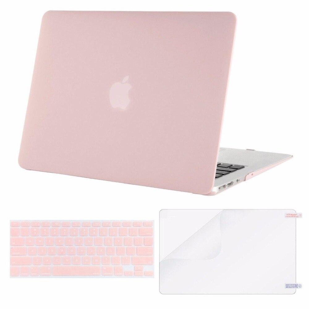 Mosiso 3 dans 1 Cas Dur pour Macbook Air 13 2014 2015 2016 2017 + Silicone couvercle Du Clavier + Protecteur D'écran A1369 A1466