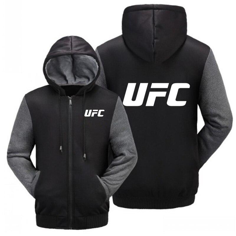 MIDUO 2018 Automne et Hiver Manteau Sportswear MMA UFC Cachemire Sweat-Shirts À Capuche Pour Hommes Veste En Coton Épais Chaud Manteau Hommes ho