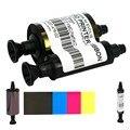 Fita YMCKO Cor da fita Metade Painel Evolis R3013 Compatível-400 impressões/rolo