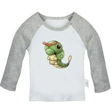 b7ae6eb5 Cute Pokemon caterpie Chansey Ditto Dragonite Dratini Gengar Goldeen  Newborn Baby T-Shirts Toddler Graphic