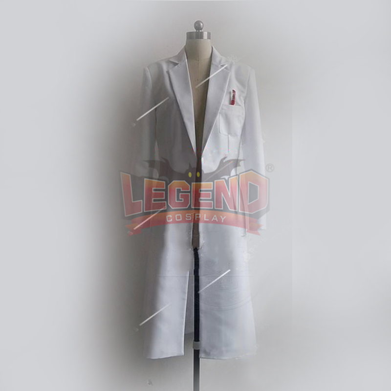 Steins Gate Okabe Rintarou Hooin costume Kyoma Cosplay adult costume trench white long coat