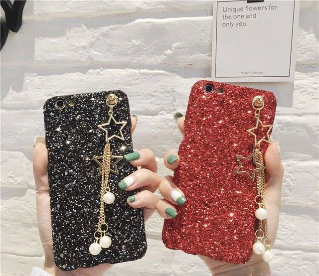 huge discount f8d21 fbd2d US $3.29  Glitter Star Pearl Pendant Cases For Oppo A59 A37 A57 Back Covers  For Oppo F1s F1 Plus F3 Plus Bling Cases For Oppo F3 Cover-in Fitted Cases  ...