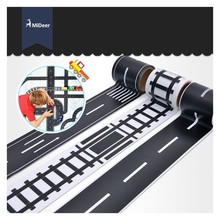 Railway Road Highway Tape Creative Traffic Road Track Scene Adhesive Masking Paper Tape Sticker Road for Kids Toy Car Play 48mmx5m railway road washi tape wide creative traffic road adhesive masking tape road for kids toy car play