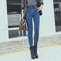 Women Jeans Skinny Slim Denim Pants For Women  Pencil  Fit Pants  Elastic Trousers Blue Plus Size#XCD-X279
