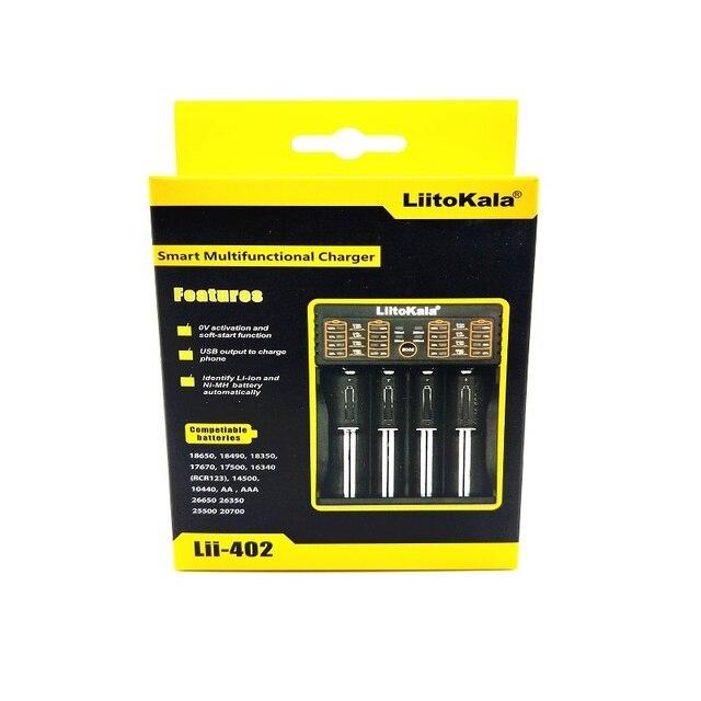 Nouveau LiitoKala Lii-100 1.2V 3.7V 3.2V 3.85V AA /AAA 18650 18350 26650 10440 14500 16340 chargeur intelligent de batterie au lithium NiMH 25500