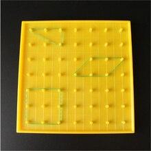 Детские обучающие средства, пластмассовая пластина для ногтей, обучающий инструмент для математики, начальная математика, маникюрная доска, инструменты, Геометрическая демонстрация
