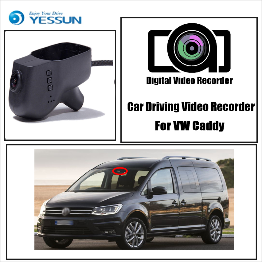 YESSUN for Volkswagen Caddy Car DVR Driving Video Recorder Hidden Mini Wifi Camera Dash Cam 96655 1080P