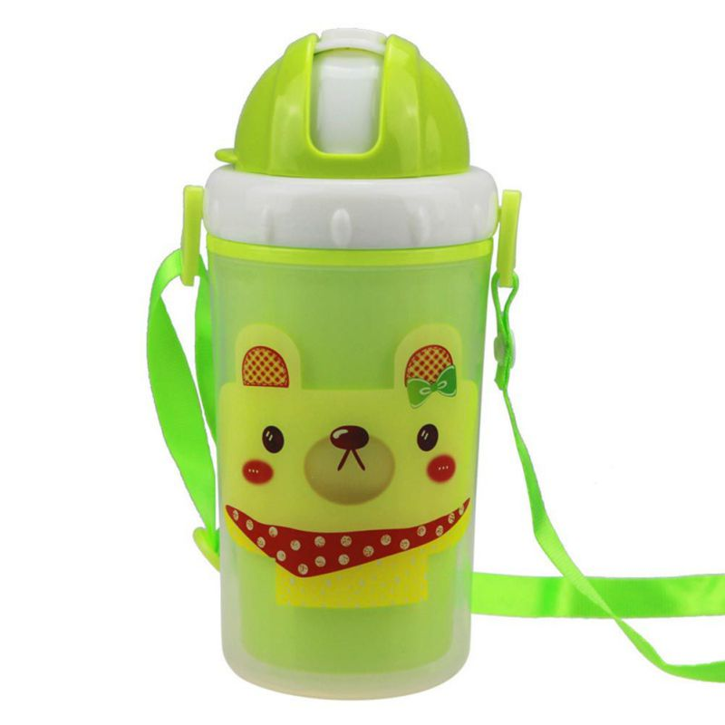 2017 New Candy Color Design Cute Cartoon Baby Training Cup Feeding Drinking Water Bottle Training Cup Baby Feeding Cup Kawaii