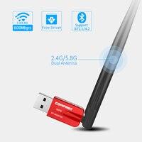 Новый Comfast CF-WU910A двухдиапазонный USB WiFi адаптер 600 Мбит Wi-Fi приемник Беспроводной сетевой карты Bluetooth4. 2 адаптер Wi-Fi Dongle