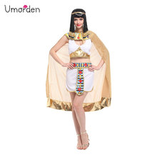 Umorden Sexy Women Cleopatra Cosplay Halloween Egypt Queen Costume Purim Carnival Masquerade Festival Belly Dance Dress