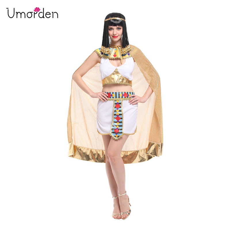 Umorden <font><b>Sexy</b></font> Women Cleopatra Cosplay Halloween Egypt <font><b>Queen</b></font> Costume Purim Carnival Masquerade <font><b>Festival</b></font> Belly Dance Dress image