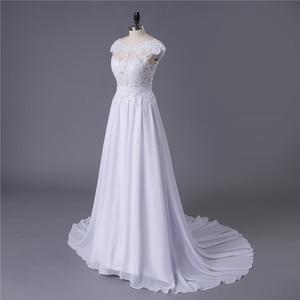 Image 4 - 2020 תפור לפי מידה סקסי זול שמלות כלה Vestido דה Noiva Casamento שיפון תחרה ללא משענת Robe De Mariage כלה תוצרת סין