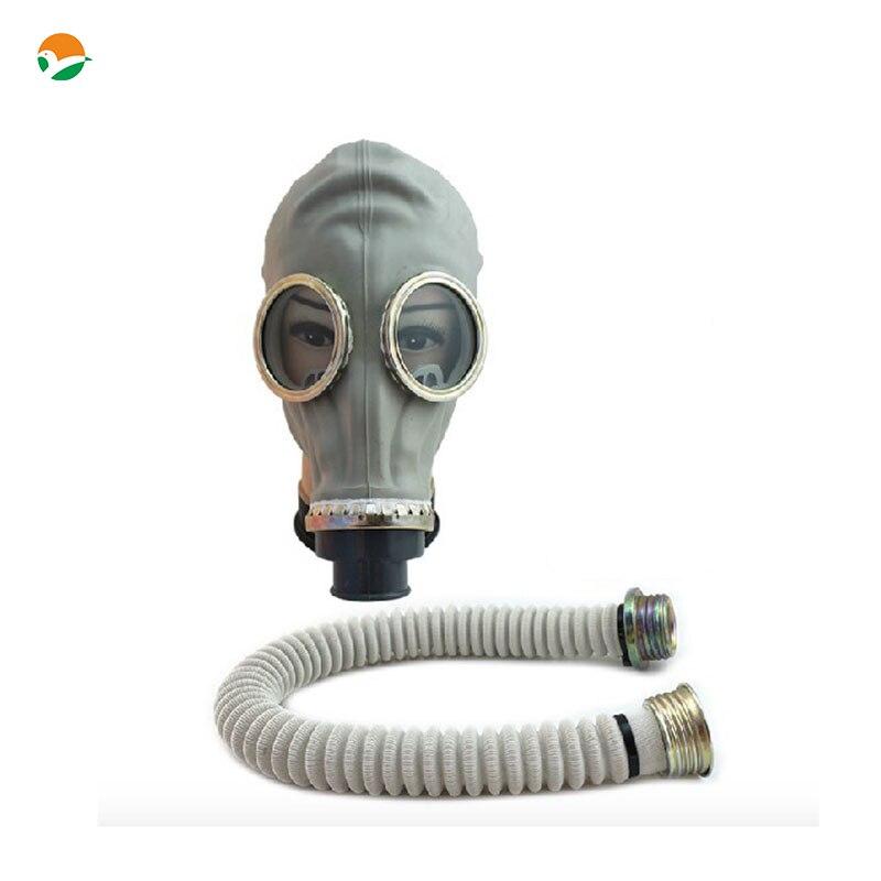 Vollgesichtsmilitärgasmaske Russische Gas Maske Stil Silikon Gasmaske Ohne Filter Aber Mit Dem Rohr