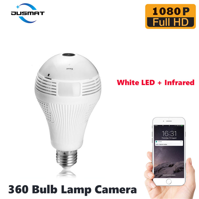wifi 360 degree light bulb lamp camera infrared E27 security surveillance indoor monitor 1080p support high speed tf 64G cardwifi 360 degree light bulb lamp camera infrared E27 security surveillance indoor monitor 1080p support high speed tf 64G card