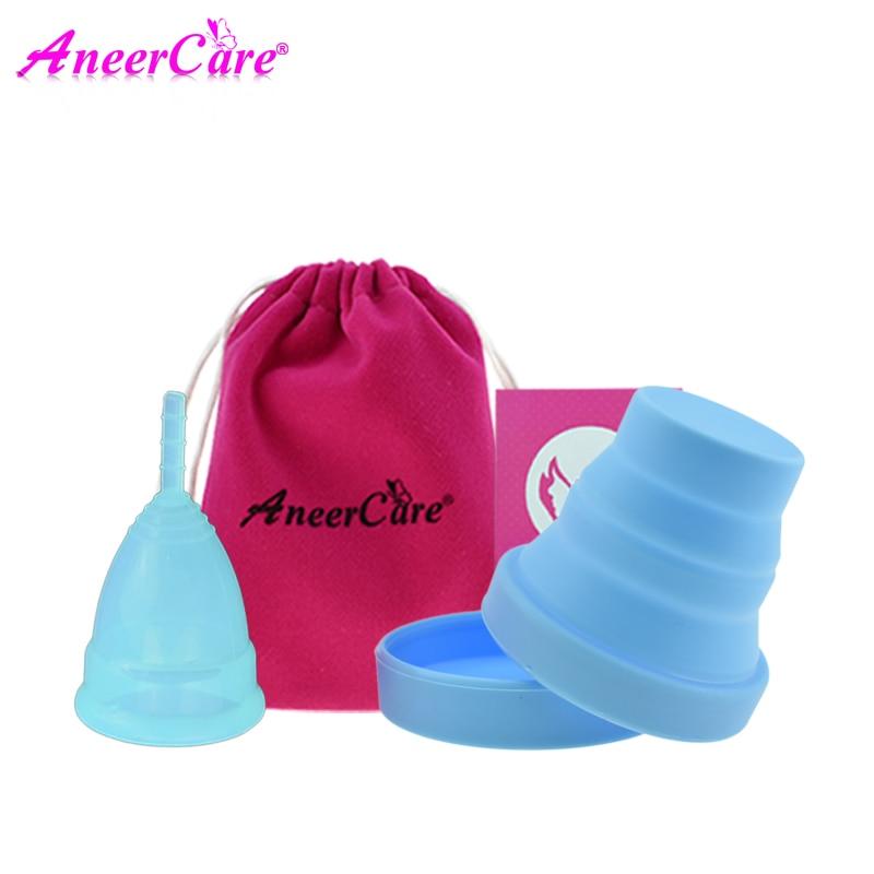 US $6 59 40% OFF 2 Copa menstrual lady cup medical grade silicone menstrual  cup feminine hygiene menstruation coletor menstrual cup sterilizer-in