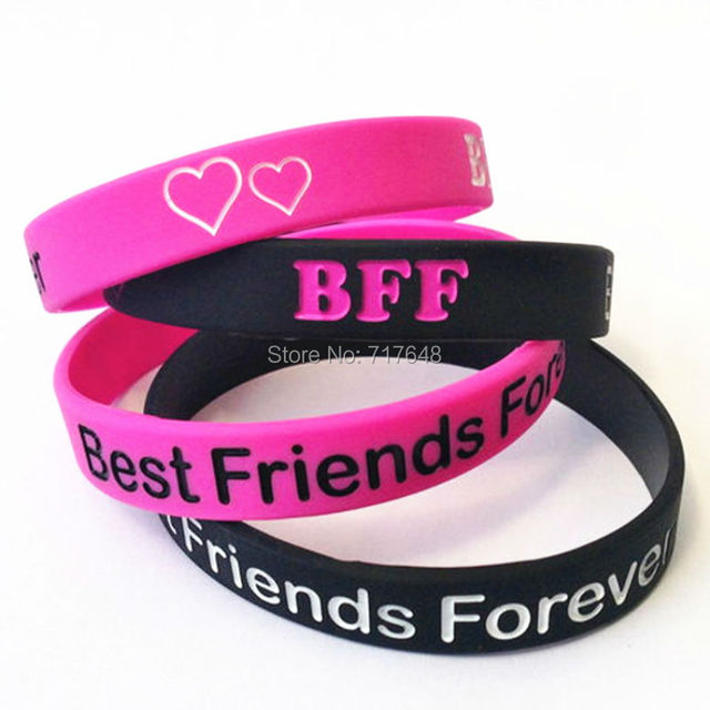 300pcs Bff Best Friends Forever Wristband Silicone Bracelets Free Shipping By Fedex