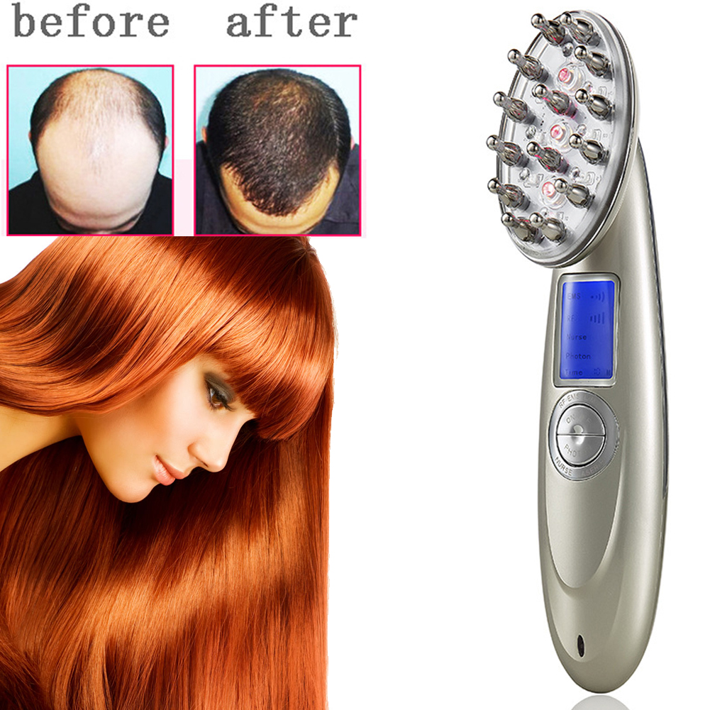 Laser Treatment Comb Rechargeable USB Charging Laser Comb Vibrating Scalp Massage Hair Regrowth Stimulate Hair Massage Brush 2pcs pack hair regrowth laser comb brush alopecia scalp therapy massage remove dandruff hair repair regrowth device health care