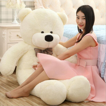 цена на 2018 Hot Sale Big Size Giant Bear Teddy Bear Stuffed Toys Animal High Quality Price Soft Toys for Girls Toys for Children Gift