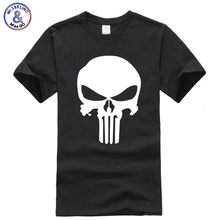 Punisher T-shirt Men/Women 2018 fashion brand clothing T-shirts Printed Skull head Short Sleeve T shirt Slim Fit Male Tops Tees(China)