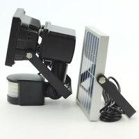 Светодиодная лампа на солнечной батарее с датчиком движения  10 Вт