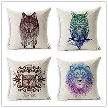 ¡Producto en oferta! funda de almohada Para cama o sofá con diseño de estilo retro y Animal, cojín decorativo Para el hogar, Fundas Para almohadas Cojines