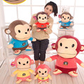 35cm kids favourite Plush Toys Soft cute Big mouth monkey Pillow Dolls mascot children room Decorations Gorilla animal Toys