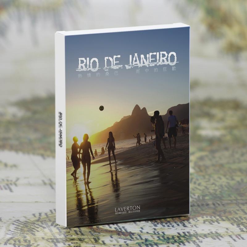 Karton 30 Blätter/lot Nehmen Eine Reise Nach Rio De Janeiro Postkarte/gruß Karte/wünschen Karte/mode Geschenk