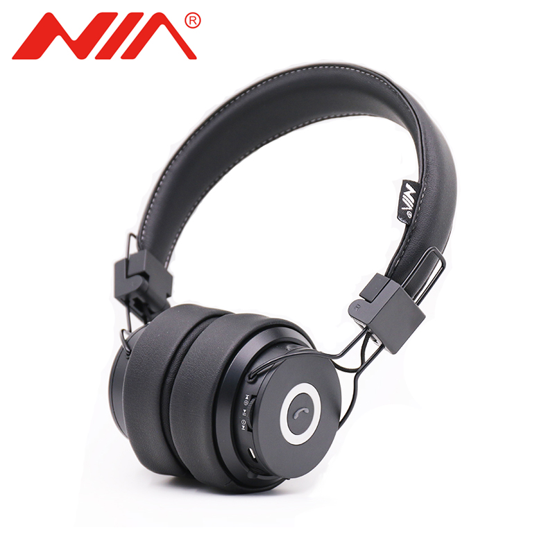 NIA X6 Wireless Bluetooth Headphones with Mic Stereo Bluetooth Headset Support TF Card FM Radio Sport Earphone