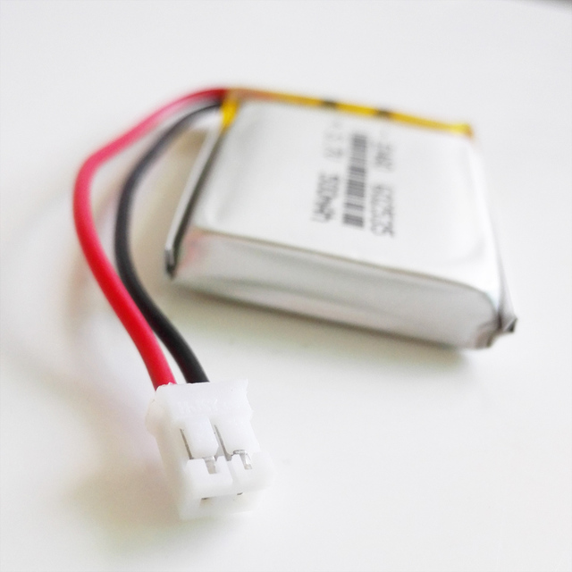 US $5 99 |3 7V 500mAh LiPo Rechargeable Battery with JST 2 0mm 2pin  connector Lithium Polymer 602535 For Mp3 GPS bluetooth Camera watch-in  Replacement