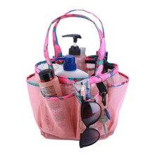 8 Basket Pockets Mesh Shower Tote Wash Bag Bathroom Caddy Storage Package Bags