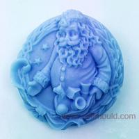 תבניות עובש סיליקון סבון תבניות מרי chrismas סנטה קלאוס AW005
