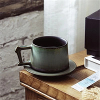 KINGLANG Japanese stoneware Mug personality ceramic cup couple cup hand made coffee cup