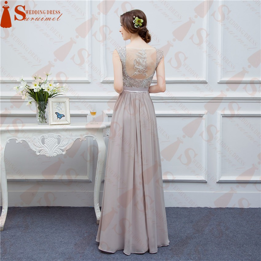 2017Grey brautjungfernkleid Chiffon vestido madrinha Cheap ...
