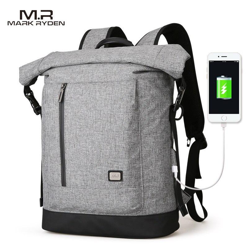 Mark Ryden 2019 nowych USB ładowanie plecak nadające się do 15.6 cali laptopa plecak o dużej pojemności do podróży w Plecaki od Bagaże i torby na  Grupa 1