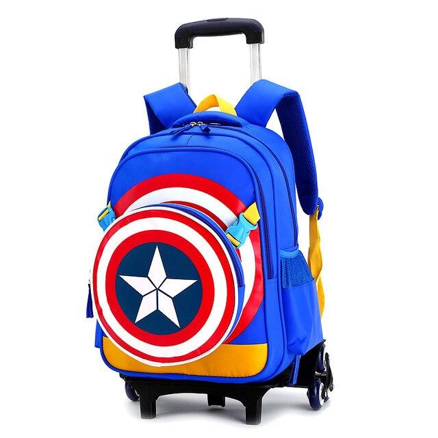 f5cd1ea23c4 2019 nuevo bolso escolar con ruedas triples para niñas y niños mochilas  desmontables portátiles para niños