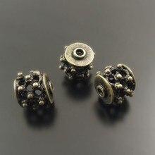 (10 peças) atacado bronze antigo tom contas de bronze oco acessórios pulseira encantos colar pingente jóias descobertas 38011