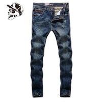 Klasik yüksek kalite koyu kot motosiklet marka giyim ince erkek moto kot uomo pantolon tasarımcı deri kot erkekler f5001