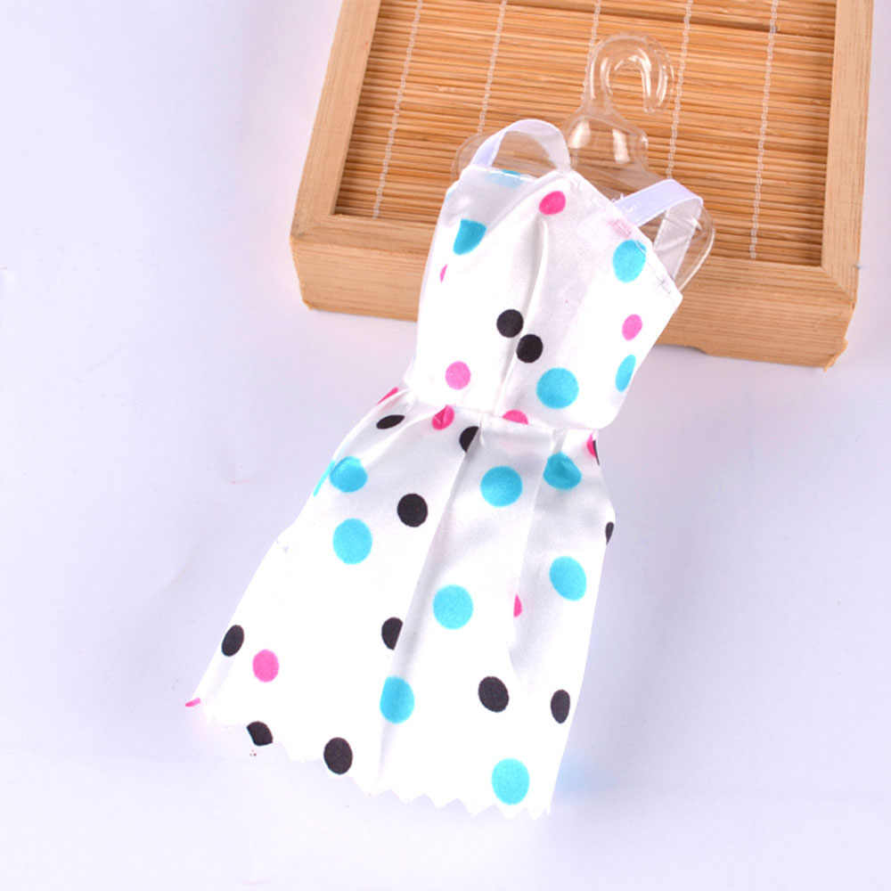 42c645db166ed 5 Pcs Set Girl Dolls Toys Hook and Loop Fastener Dresses Gown Outfits Doll  Accessories Playsets for Barbie Girls Birthday Gift