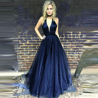 Sleeveless Sexy Evening Dresses Long Top Satin Below Tulle Prom Dresses Evening Party Gown Robe De Soiree Abendkleider