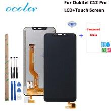 """Ocolor Oukitel C12 Pro LCD ekran ve dokunmatik ekran değiştirme Oukitel C12 LCD araçları ile 6.18 """"+ Film"""