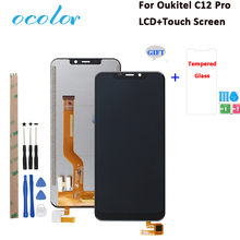 "ocolor For Oukitel C12 Pro LCD Display And Touch Screen Replacement For Oukitel C12 LCD With Tools 6.18"" +Film"