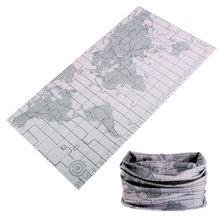 Pañuelo de Shemagh para Deporte, pasamontañas para tácticas de pesca, protección facial multiuso, calentador de cuello Tubular, para Paintball, mapa gris