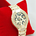 Leopardo de lujo de la Señora Relojes de Oro de Las Mujeres Relojes de pulsera de Acero Inoxidable Lleno de Magia Mujer Reloj Pulsera Señoras Reloj de Pulsera de Mujer