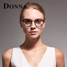 DONNA Stylish Clear Lens Glasses Samll Circle Frame Blue Light Blocking for Computer Blue Light Blocking Glasses DN08