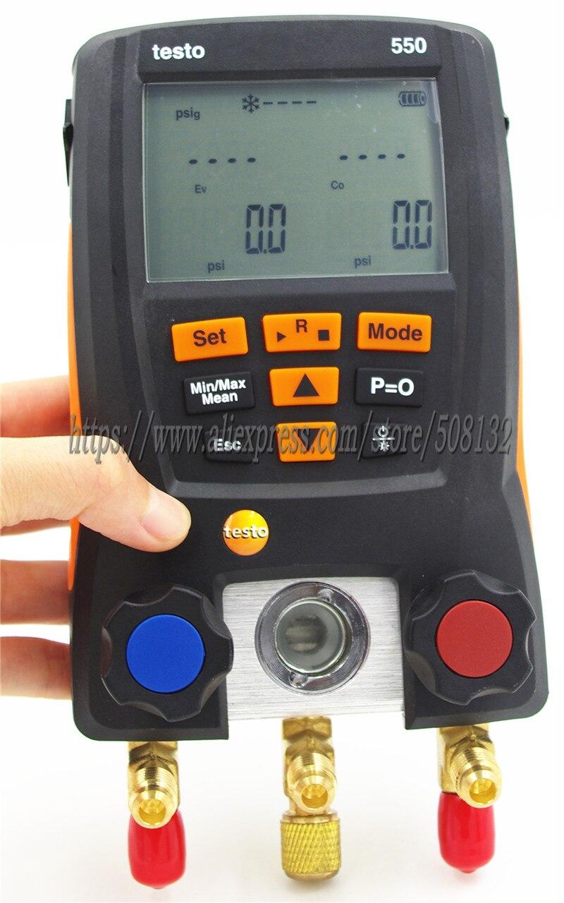 Testo 550 Digitale Manifold Gauge Kit Mit Bluetooth App 0563 1550 Optional 550 Meter/klemme Sonden/weichen Fall/koffer/schläuche