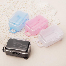 12pcs/lot New Creative DIY Trolley Box Shape Transparent Plastic Candy Wedding Favors Birthday Party Gift