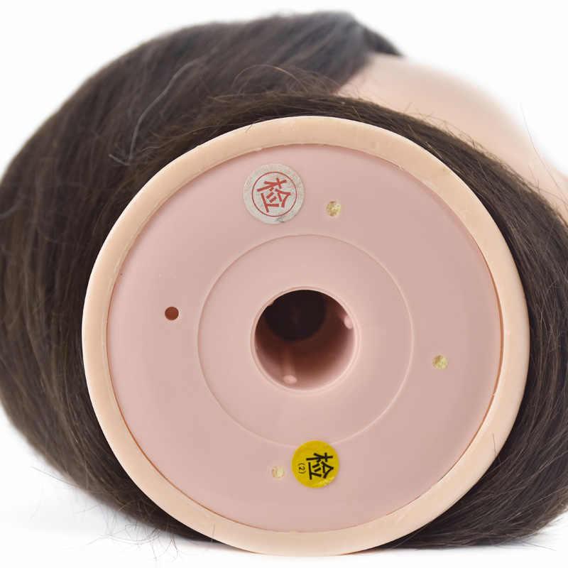"""Beste Verkauf Weibliche 18 """"Kosmetik Mannequin Kopf Menschliches Haar Professional Training Puppen Natürliche Haar Salon Frisuren Schaufensterpuppen"""
