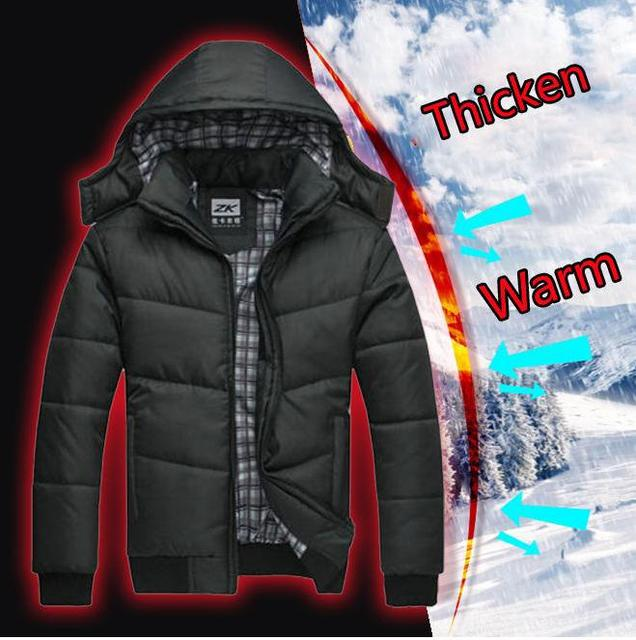 Men's winter Hoodies Quilted Jacket Warm Fashion Male Puffer ... : are quilted jackets warm - Adamdwight.com