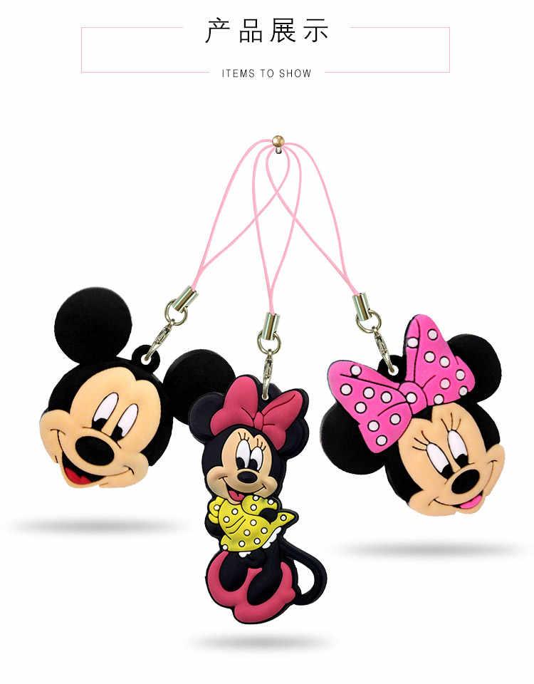 Frete Grátis 1 PCS Adorável Mickey Minnie 2D PVC Ornamento Pendurado Pingente Cinta Do Telefone Móvel com Alça de Suspensão Sacos de Acessórios